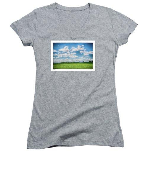 Prison Barn Women's V-Neck T-Shirt
