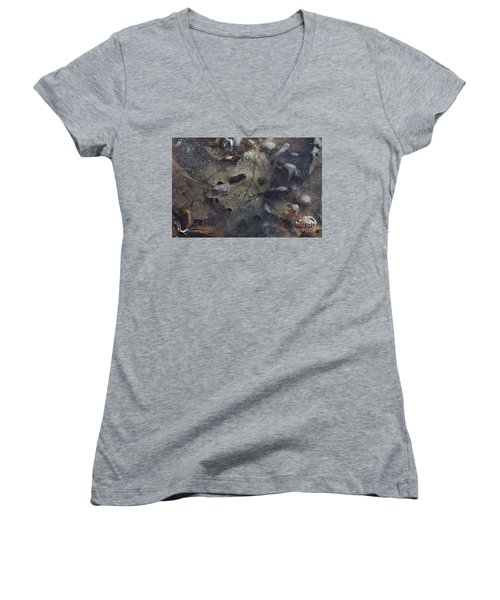 Women's V-Neck T-Shirt (Junior Cut) featuring the photograph Prisoner Of The Ice by Cendrine Marrouat