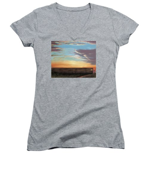 Private Sunrise.  Keep Out Women's V-Neck T-Shirt