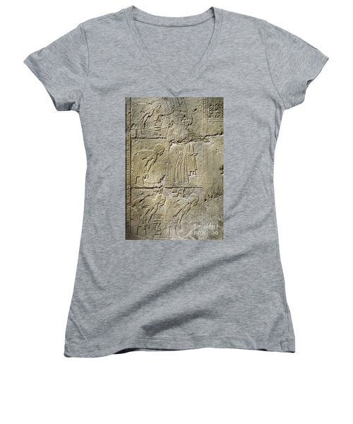 Private Tombs -painting West Wall Tomb Of Ramose T55 - Stock Image - Fine Art Print - Thebes Women's V-Neck