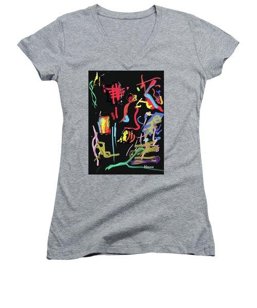 Progress Of A Small Experiment Women's V-Neck T-Shirt (Junior Cut) by Robert Henne