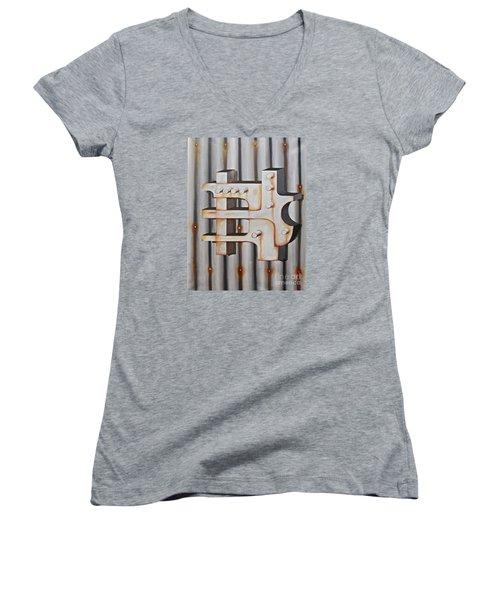 Project Object Series Women's V-Neck T-Shirt (Junior Cut) by John Stuart Webbstock