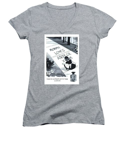 Women's V-Neck (Athletic Fit) featuring the digital art Promises by ReInVintaged