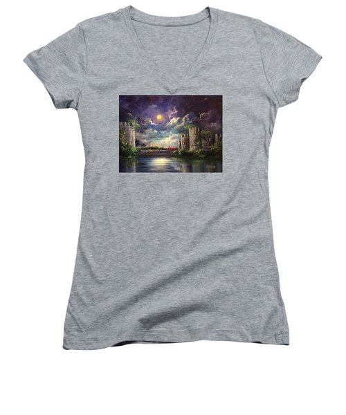 Proposal Underneath The Moon Women's V-Neck