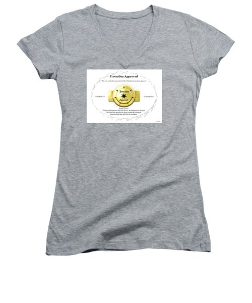 Protection Approved Women's V-Neck T-Shirt