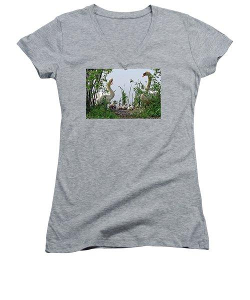 Protective Parents Women's V-Neck T-Shirt