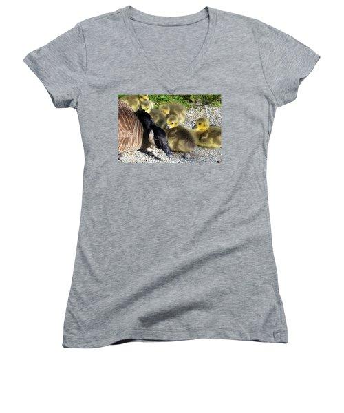 Protective Stance Women's V-Neck T-Shirt (Junior Cut)