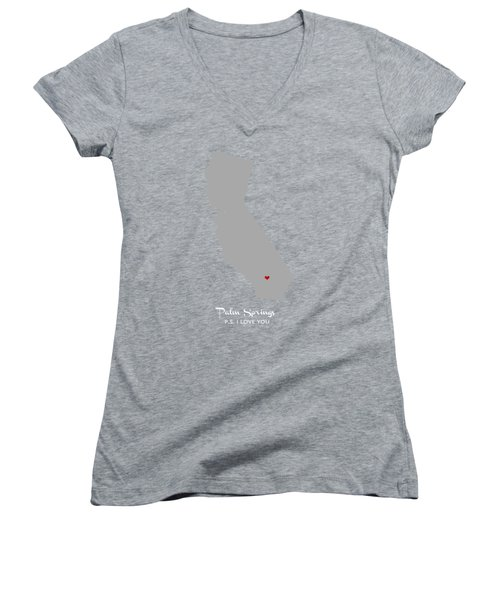 Ps I Love You Women's V-Neck T-Shirt (Junior Cut) by Nancy Ingersoll