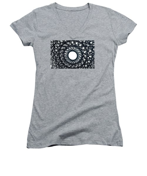 Psychedelic Concentric Circle Women's V-Neck