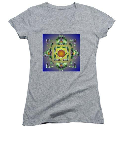Psychedelic Mandala 002 A Women's V-Neck (Athletic Fit)