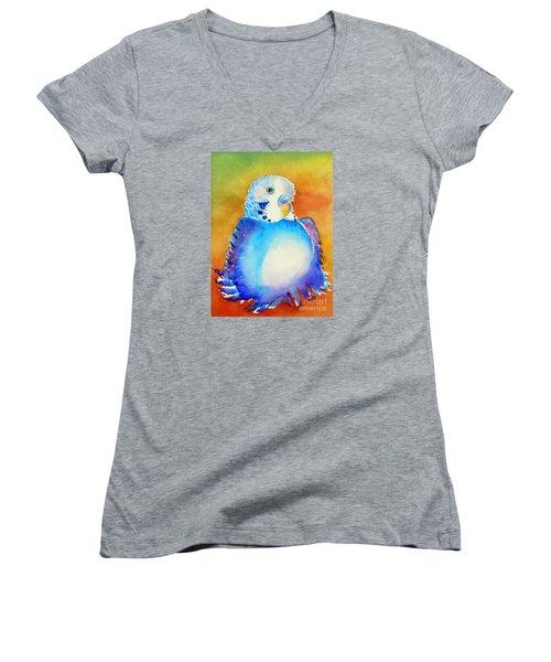 Pudgy Budgie Women's V-Neck T-Shirt