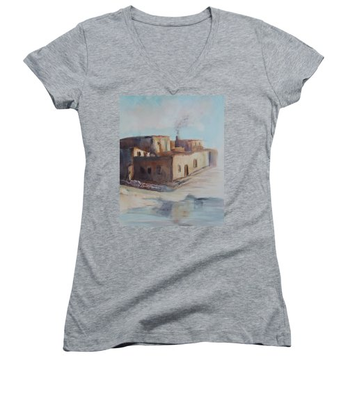 Pueblo After The Rain Women's V-Neck T-Shirt