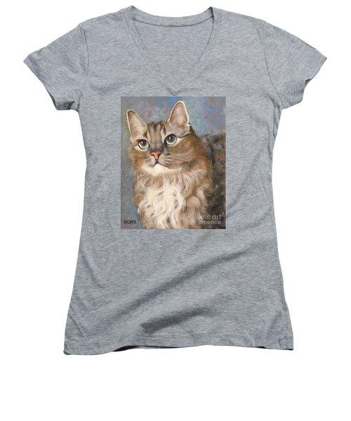 Puff  Ball Women's V-Neck T-Shirt