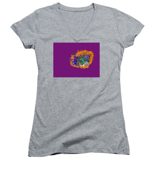 Puff Of Color Women's V-Neck (Athletic Fit)
