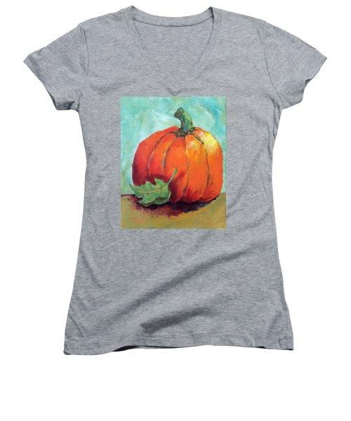 Pumpkin Women's V-Neck