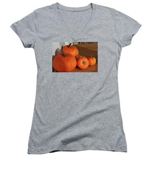 Pumpkins Women's V-Neck (Athletic Fit)