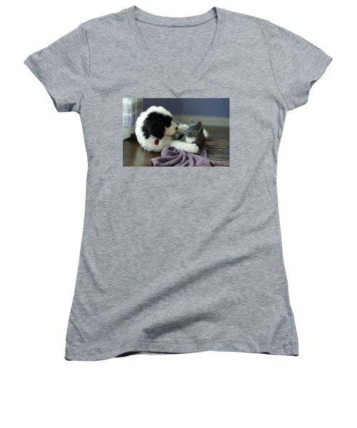 Puppy Love Women's V-Neck T-Shirt
