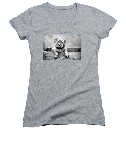 Puppy - Monochrome 3 Women's V-Neck