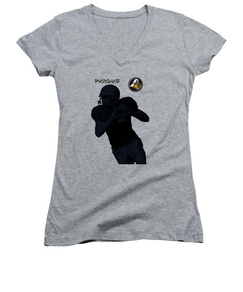 Purdue Football Women's V-Neck (Athletic Fit)