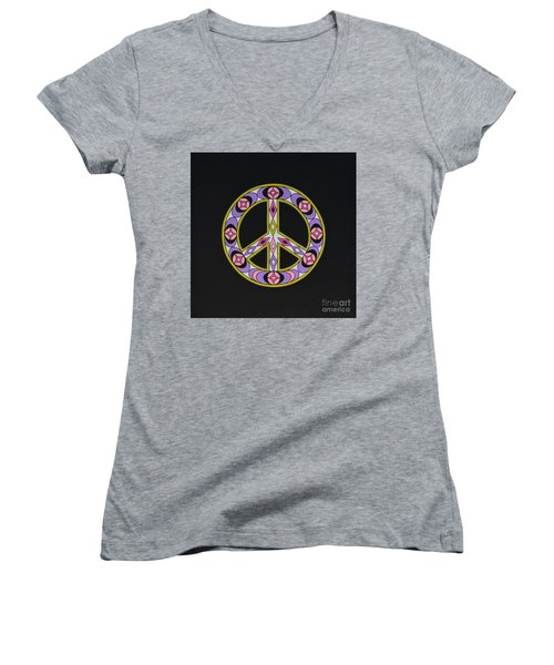 Pure Peace Women's V-Neck (Athletic Fit)