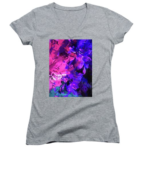 Purple Behind Pink Women's V-Neck (Athletic Fit)