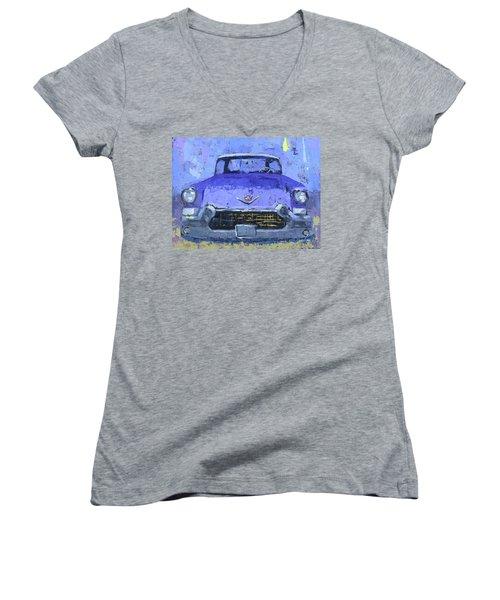 Purple Cadillac Women's V-Neck