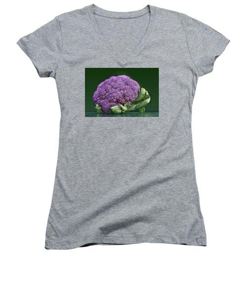 Purple Cauliflower Women's V-Neck T-Shirt