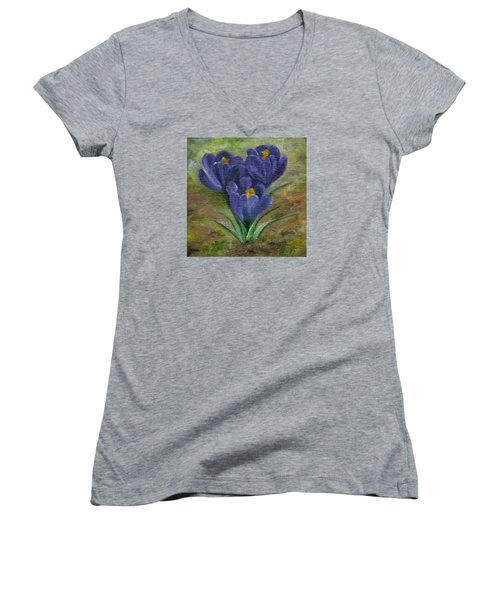Purple Crocus Women's V-Neck