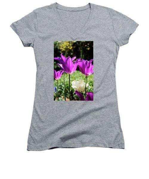 Purple Cups Women's V-Neck T-Shirt