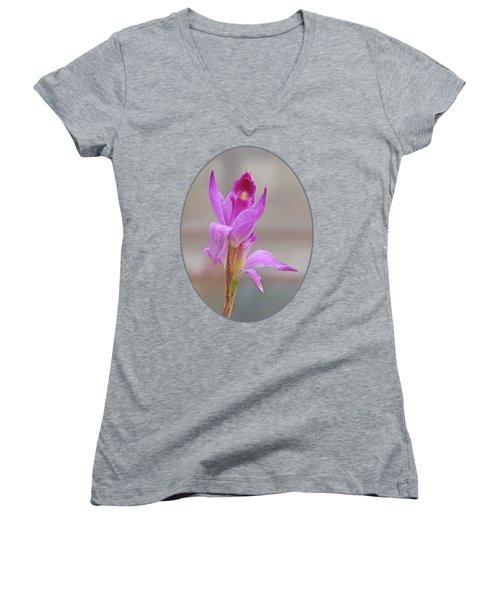 Purple Delight Women's V-Neck T-Shirt (Junior Cut) by Gill Billington