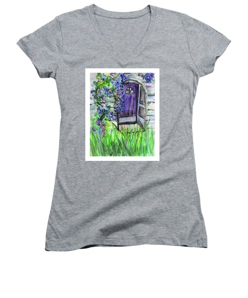 Purple Doorway Women's V-Neck
