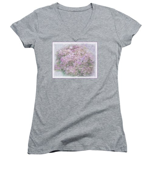 Purple Hydrangeas Women's V-Neck (Athletic Fit)