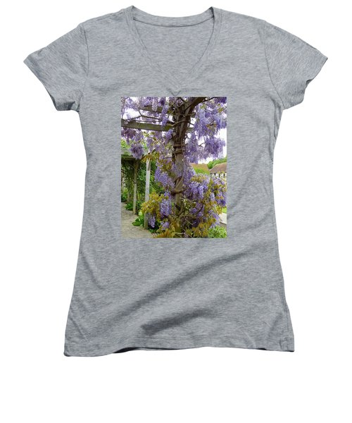 Purple In Priory Park Women's V-Neck (Athletic Fit)