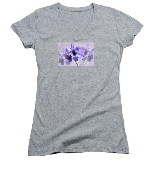 Purple Irises Women's V-Neck T-Shirt