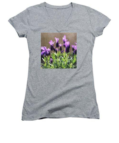 Purple Women's V-Neck