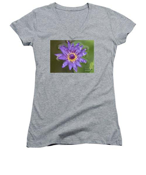 Purple Lily Women's V-Neck