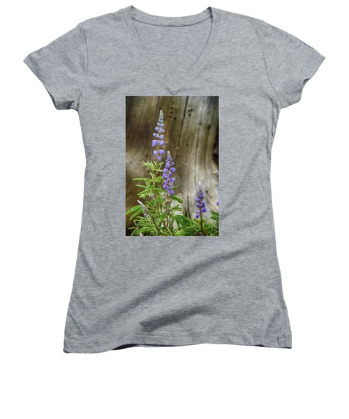 Purple Lupine Women's V-Neck (Athletic Fit)