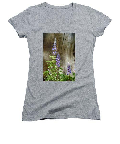 Purple Lupine Women's V-Neck