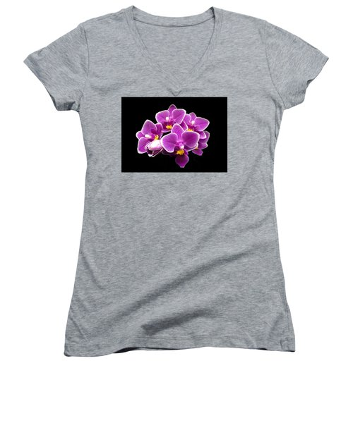Purple Orchid Women's V-Neck (Athletic Fit)