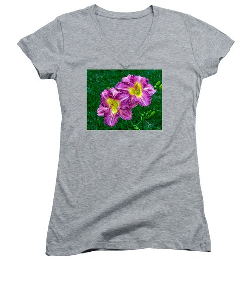 Purple Pair Women's V-Neck