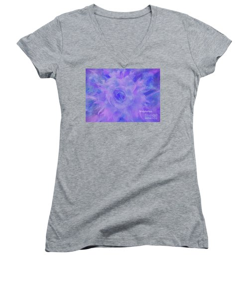 Purple Passion By Sherriofpalmspringsflower Art-digital Painting  Photography Enhancements Tradition Women's V-Neck T-Shirt