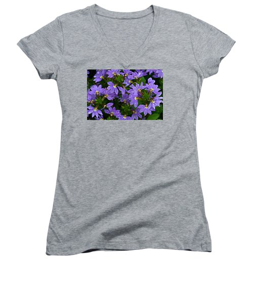 Purple Perspective Women's V-Neck T-Shirt (Junior Cut) by Shari Jardina