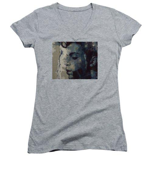 Purple Rain - Prince Women's V-Neck T-Shirt