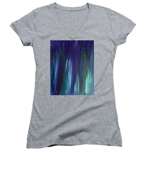 Purple Rain Women's V-Neck T-Shirt (Junior Cut)
