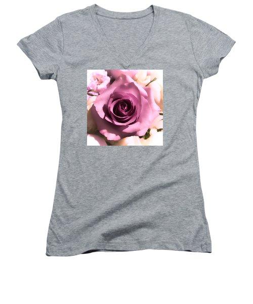 Purple Rose Women's V-Neck