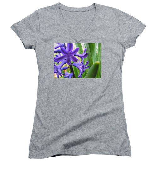 Women's V-Neck featuring the photograph Purple Spring by Robert Knight