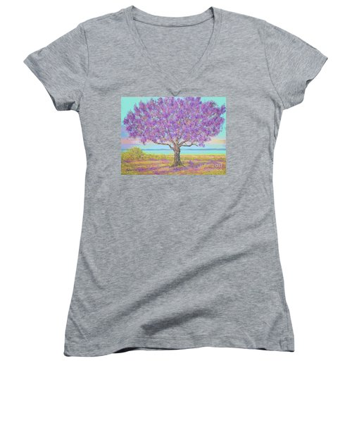 Purple Tree Women's V-Neck
