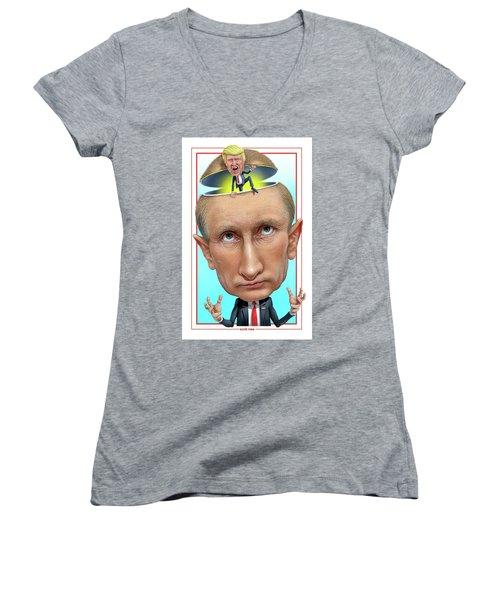 Putin 2016 Women's V-Neck