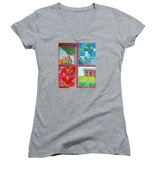 Quadrants Women's V-Neck (Athletic Fit)