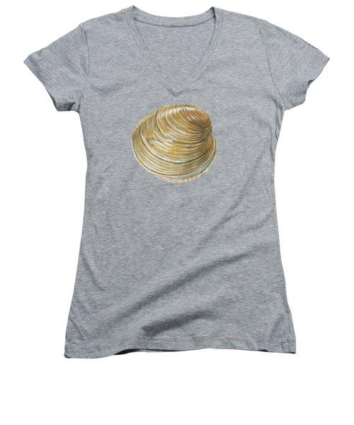 Quahog Shell Women's V-Neck